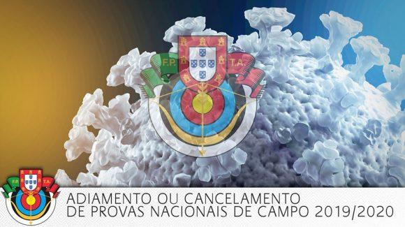 Adiamento ou cancelamento das Provas Nacionais de Campo 2019/2020
